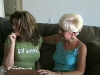 Mature Blonde And Young Couple