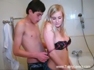 Young lovers in the bath free