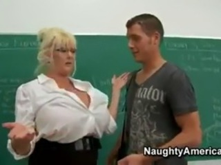 The teacher have very big tits.