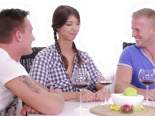 Virgin Marisa looses virginity with twosome guys croak review dilute check