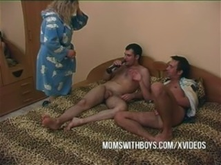Drunk Mom Old and Young Threesome