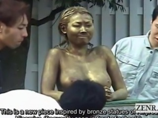 Subtitled institute Japanese car park statue prank covert coition