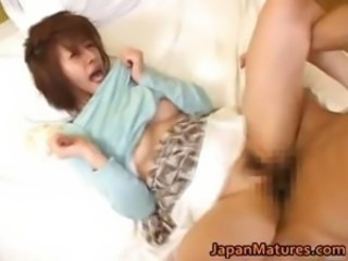 Horny japanese mature babes sucking part5