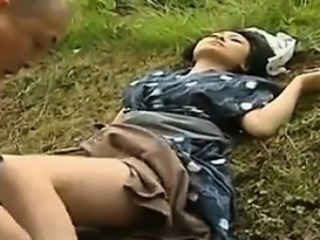 Vintage Japanese Shacking up Outdoors
