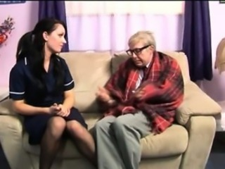 Fetish euro nurse loves old cock