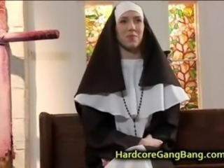Nun anal gangbanged wide of five priests