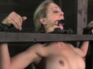 Spider gagged skank being stocked