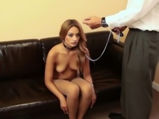Tranced teen humiliated and leashed