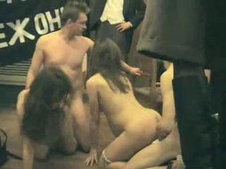Group sex in the museum with a Russian celebrity