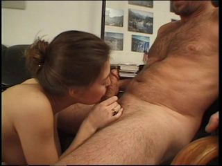Brunette cutie gives a sizzling blowjob