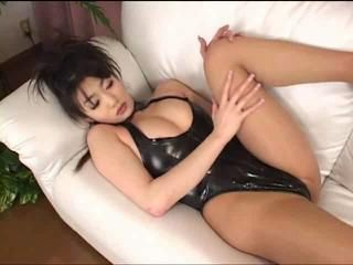 sexy asian in leotard,teddy,body
