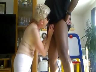 My mature gets two cocks and an anal fist