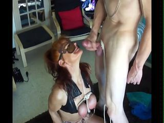 Tied Tits and Facial for Slave