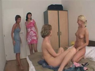 Foursome Lesbians Teens.