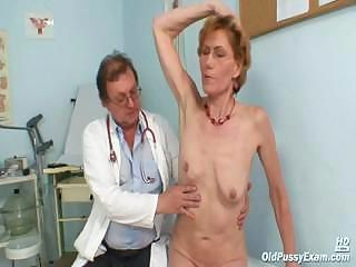 Classy elderly laddie Mila needs gyno clinic examination