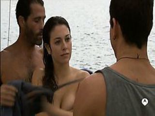 Blanca Suarez topless but covered show us her huge clea...