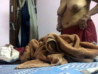 Indian Desi Delhi Aunty changing clothes Hidden cam