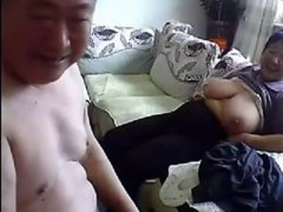 Old Chinese Fastener Get Naked and Fuck exceeding Cam