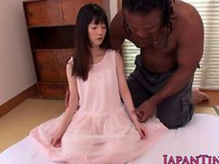 Tight dense japanese girl fucked by huge black challenge