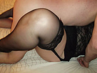 Amateur BBW Homemade Older Stockings Wife