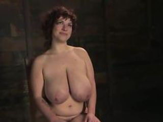 Curly mature about giant titties has Fisted inside boun...