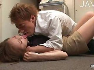 Asian Japanese Kissing Office Secretary