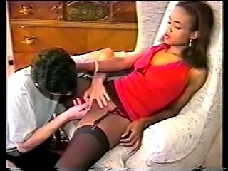 Sinnamon Love & Mark Saunders in some interacial asction before her boob job.