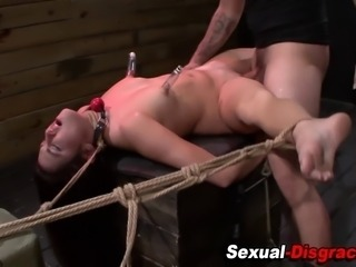 Bound and nipple suctioned hold a session throats and fucks in hd