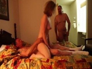 Amature Wife fucked by two bikers in a cheap hotel free