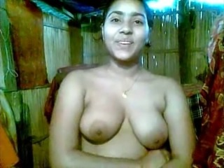 Bangla desi Village Unfocused Mukta Shy in the air Friend as Lesbian Act