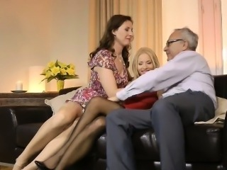 Stroking mature euro slut