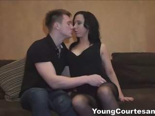 This sexy tattooed chick sure knows how to be a good escort. She never keeps...