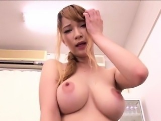 Amazingly hot busty Japenese girl fucks
