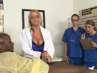 Three MILF Doctors Offering Vocal Cock Talk over