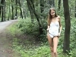 Sweet Girl Flashing In Public