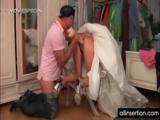 Sexy bride ass hole fucked with a brutal huge dildo free
