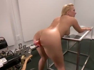 Luscious Katja Kassin has Toyed inside Both tunnels By the Machine