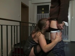 Slutty german mature in hole up and boots anal creampie