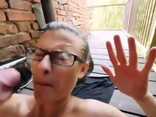 Bigtitted Czech nymph Katia clamber up onto glasses