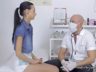 Doctor makes sure Martinas tits have no lumps