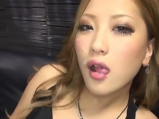 Aika touches the cock And Eats All A jizz Which She has