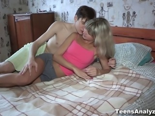 This beautiful teeny has such a tight agile body with the addition of her boyfriend wastes no...