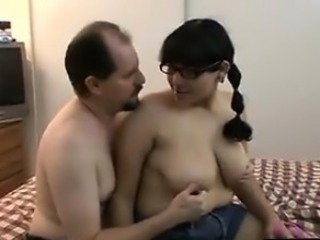 Amateur Chubby Daddy Glasses Homemade Old and Young
