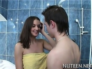 Legal age teenager getting her tight sweet snatch