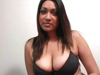 Asian and Indian lesbians use toys and then a strapon to fuck
