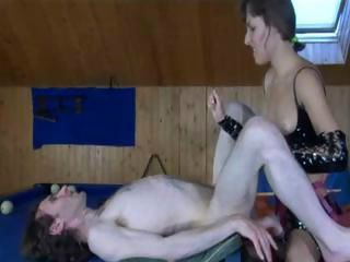 Raunchy Russian ladies have some randy fun with some erect rods