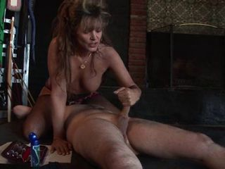 Femdom Bionca 1990's porn star And her slave