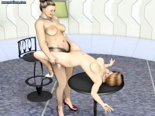 3d Animated Lesbians Are Doing Some Acro...