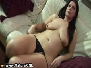 Thick dark haired horny matured mom loves part4