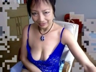 Asian Mature Hot Masturbation in Webcam